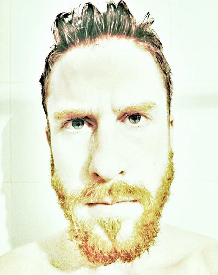 Self portrait as bearded Van Gogh lover