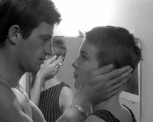 Jean-Paul Belmondo & Jean Seberg in Jean-Luc Godard's BREATHLESS